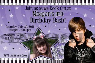 Justin Bieber Personalized Birthday Invitations & Party Favors