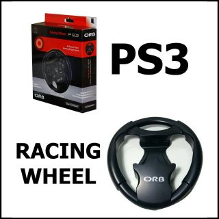 PS3 CAR GAME RACING STEERING DRIVING GAMING WHEEL CONTROL NEW BOXED