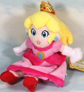 Newly listed super mario bros princess peach 7 soft plush doll toy