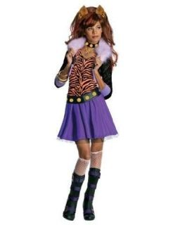 MONSTER HIGH CLAWDEEN WOLF COSTUME WIG DRESS UP SMALL MEDIUM LARGE