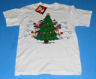 PEANUTS CHARLIE BROWN SNOOPY CHRISTMAS TREE T SHIRT SIZE MENS SMALL