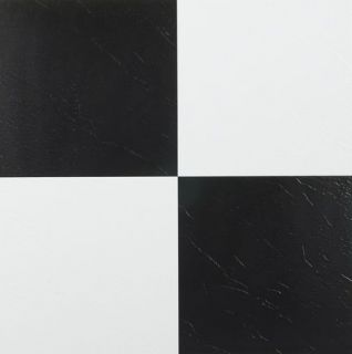 SOLID BLACK WHITE & CHECKERED PEEL AND STICK BLACK VINYL FLOOR TILES