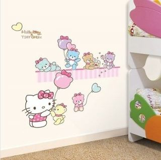HELLO KITTY & TINY CHUM KIDS Adhesive Removable Wall Decor Accents