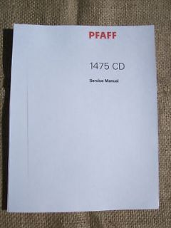 PFAFF CREATIVE 1475CD Sewing Machine Service Manual