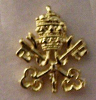 Pope Rome Vatican Tiara Catholic Knights Columbus KC Award Pin Case