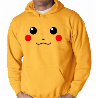 Pikachu Hooded Sweater Pokemon Anime Black and White Shirt Hoodie Game