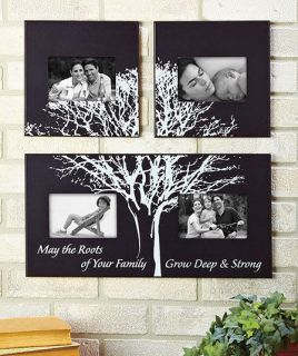 Black and White Family Tree Photo Picture Wooden Frame Home Decor