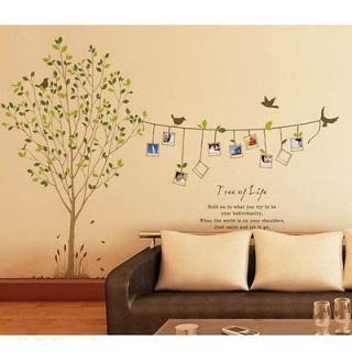 75 Photo Tree Pattern DIY Wall Art PVC Stickers Home Mural Wallpaper