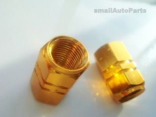 Yellow GOLD ALUMiNUM Tire/Wheel stem Valve CAPS for Motorcycle