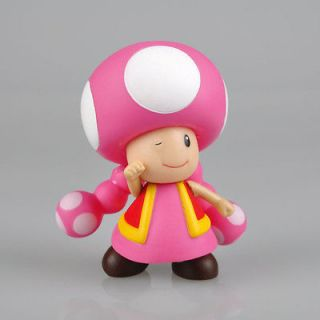 Mario Bros 4 pink TOADETTE Poseable Action Figure Toy doll _M7