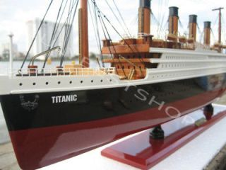 Titanic   Hand crafted model wooden ship. Classic collectors model