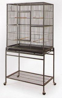 New Large Wrought Iron Flight Cage With Stand Black Bird Cage A 421