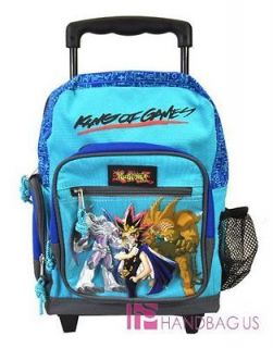 Blue Yu Gi Oh YUGIOH Medium Rolling BACKPACK Bag King of Games NEW