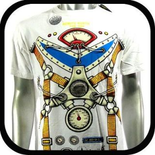 Minute Mirth T Shirt Tattoo Punk bmx Rock Art H145 Sz L Graffiti Skate