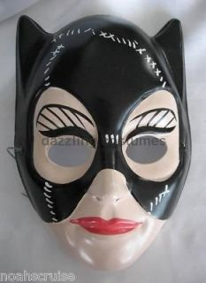 catwoman mask plastic half batman costume accessory pvc licensed 1992