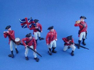 Toy Soldiers British Redcoats Revolutionary War 1/32 Painted Plastic