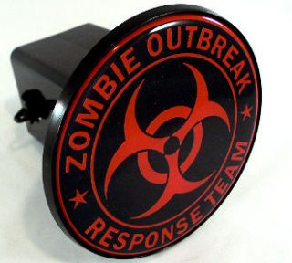 Zombie Outbreak Response   2 Tow Hitch Receiver Cover Insert Plug for
