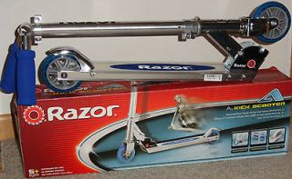 New Razor A Kick Scooter Bike Blue Boys Girls Easy Fold & Carry 13003A