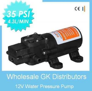 GPM Diaphragm Water Pump 35 psi Lawn Sprayers, Boats, RVs, Yachts