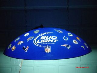 Bud Light Pool Table Light Football Decal Theme ALLTEAMS Displayed