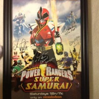 SDCC 2012 NICKELODEON POWER RANGERS SAMURAI EXCLUSIVE SIGNED FRAMED