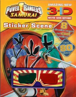 Power Rangers   Samurai 3D Sticker Activity Scenes