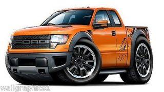 2010 13 Ford F 150 Raptor 4x4 Truck Wall Graphic Sticker Vinyl Decal