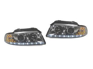 97 98 AUDI A4 B5 R8 STYLE DRL PROJECTOR HEADLIGHTS + LED SIGNAL LIGHTS