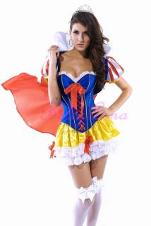 Snow White Princess Adult Women Halloween Costume Fancy Dress Up SML