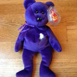 Princess Diana Bear 1997 Retired Ty Original Beanie Babies Baby Tag