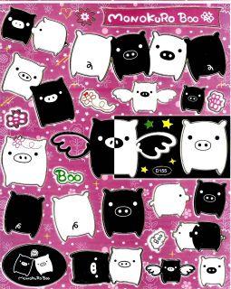 Monokuro Boo Sticker ~D155 Black White Pigs tail wing