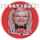 Gingrich campaign button pin 2012 PRESIDENT OFFICIAL CAMPAIGN PIN BACK