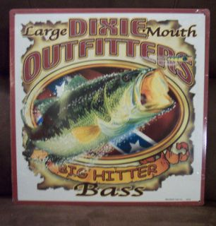 BASS DIXIE OUTFITTERS BIG HIT Metal Sign Wall Decor Made in the USA