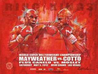 FLOYD MAYWEATHER vs MIGUEL COTTO OFFICIAL ON SITE FIGHT POSTER