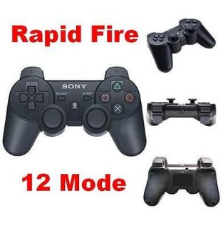 PS3 controller Modded Rapid Fire Wireless Controller 12 mode Black