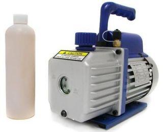 Rotary Vane Deep Vacuum Pump AC A/C HVAC Air Refrigerant R410a R134