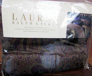 Ralph Lauren NEW BOHEMIAN Paisley Full Queen Duvet Comforter Cover NEW
