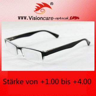 00 ~ 4.00 Fashion Rimless Reading Glasses Frame No.588 Black