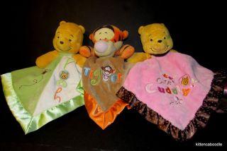 Disney Baby Winnie the Pooh Tigger Tiger Security Blanket Rattles