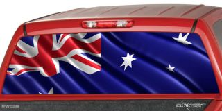 AUSTRALIAN FLAG Rear Window Graphic Decal Tint Truck cap SUV Van Ford