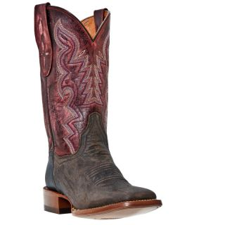 Post Womens San Saba Cowboy Western Boots Chocolate/Red Sanded DP2907