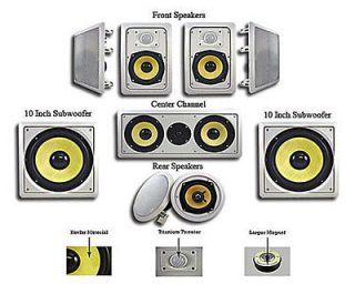 surround sound wall speakers in Home Speakers & Subwoofers
