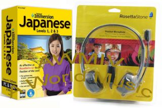 Immersion Learn JAPANESE Language Software and Rosetta Stone Headset