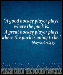 20 WAYNE GRETZKY GOOD HOCKEY PLAYER QUOTE VINYL DECAL STICKER HOME
