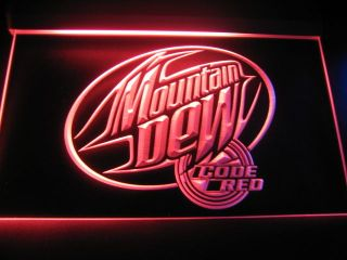 W1602 Mountain Dew Code Red Neon Light Sign