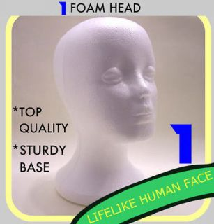FEMALE FOAM STYROFOAM MANNEQUIN HEAD WIG HAT MODEL