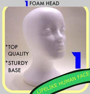FEMALE FOAM STYROFOAM MANNEQUIN HEAD WIG HAT MODEL