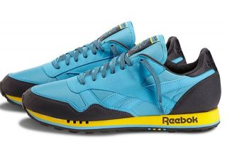 New Reebok Retro Classic Trail Mens Shoes Trainers Blue Yellow Casual
