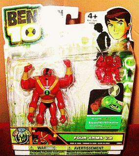 ORIGINAL 2011 Ben 10 RED FOUR ARMS V.2 4 inch Action Figure MISP +Disc