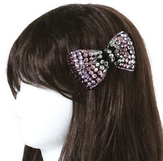 New High Quality Purple Iridescence Swarovski Crystal Ribbon Hair Clip